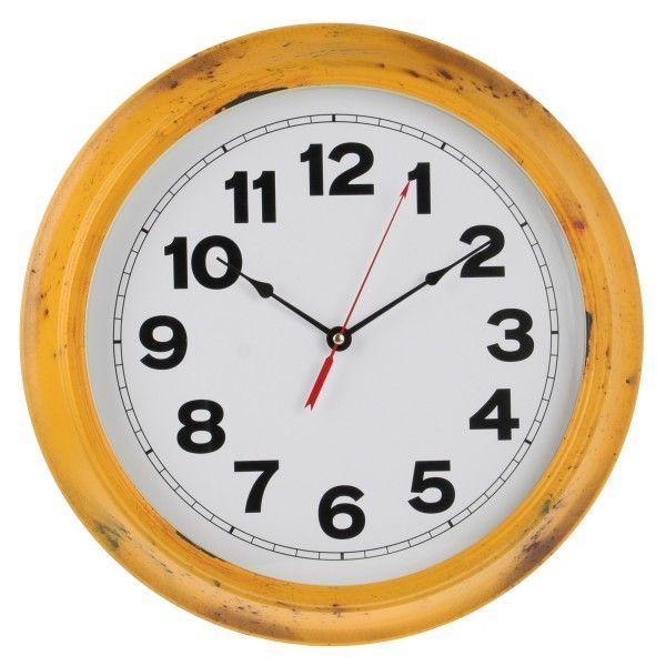 Klassiek uurwerk uit geel smeedwerk Diameter: 40 cm