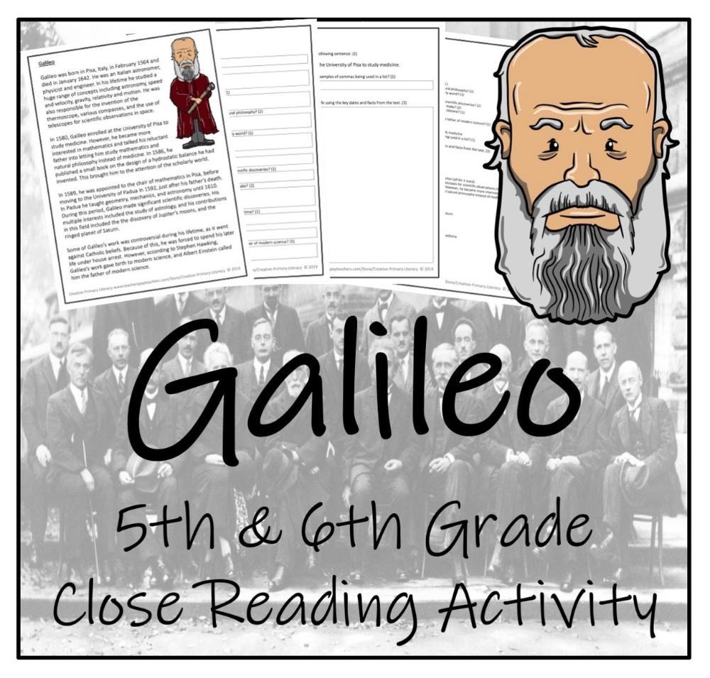 Galileo 5th 6th Grade Close Reading Activity Close Reading Activities Reading Activities Close Reading [ 955 x 1000 Pixel ]