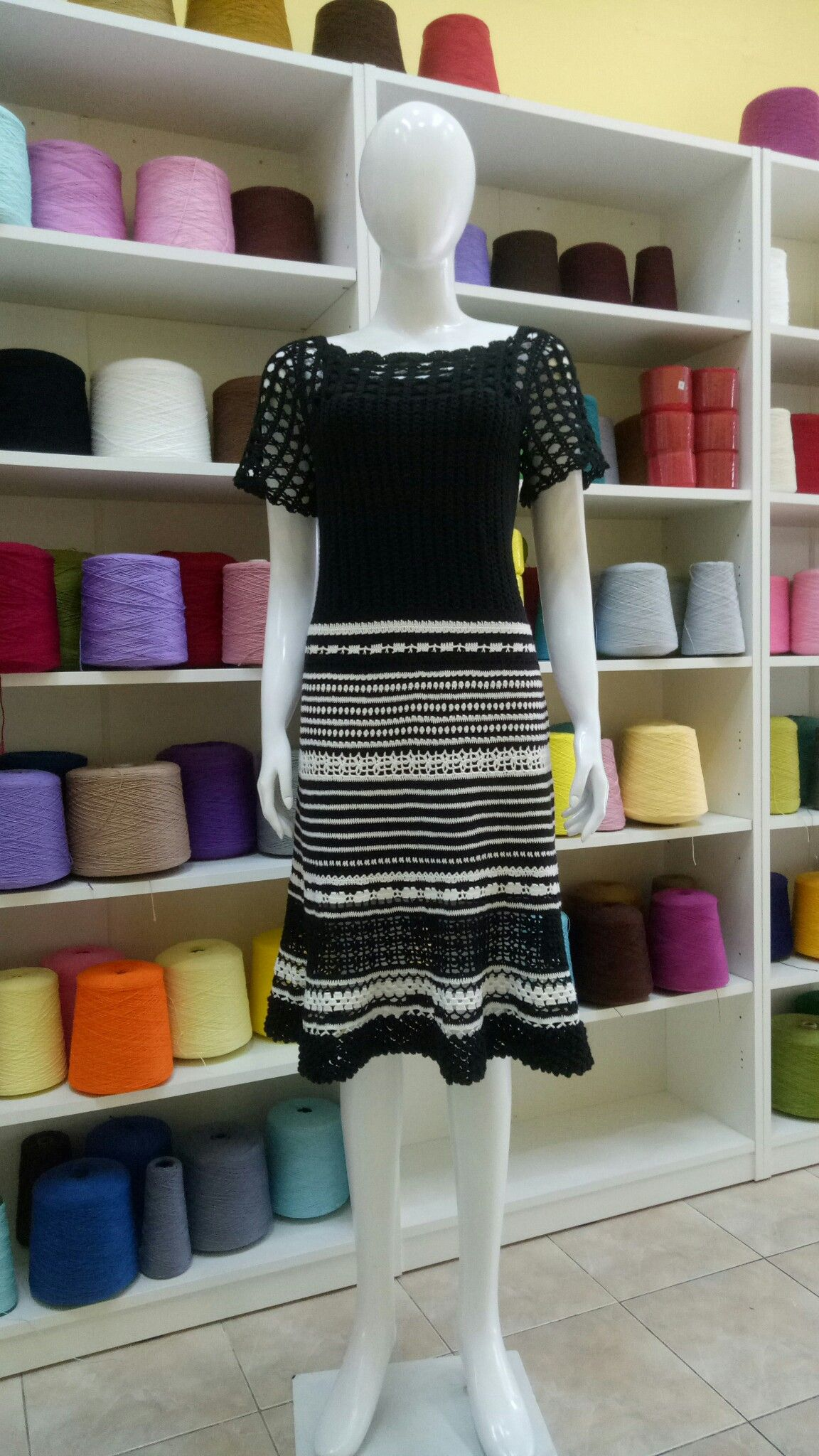 Black and white classic dress