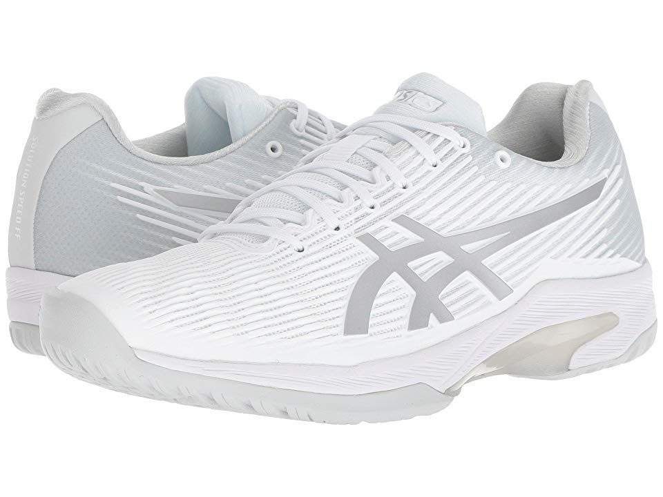 Asics Solution Speed Ff Women S Tennis Shoes White Silver In 2020 Fashion Tennis Shoes Womens Tennis Shoes Tennis Shoes