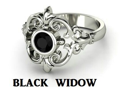 Black Widow Victorian Engagement Rings Gothic Wedding Ring Styles