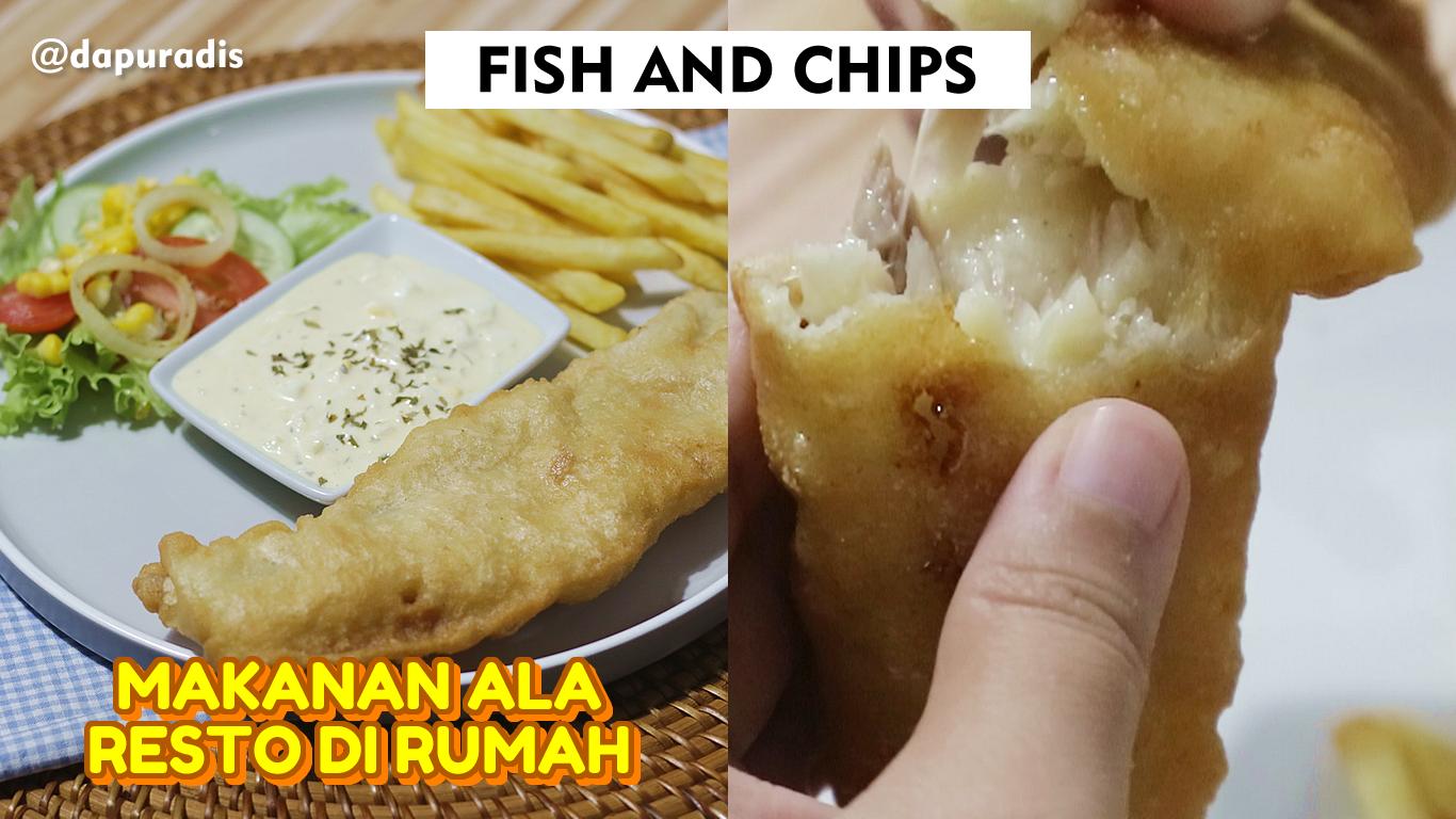 Resep Fish N Chips With Tartar Sauce Ala Dapur Adis Chips Resep Masakan Resep