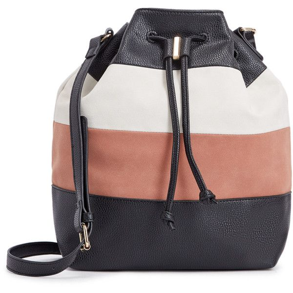 Shoedazzle Bags Sampi Bucket Bag Womens Black White Pink