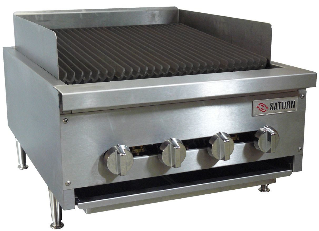 Saturn equipment scb24 hd 24 inch gas charbroiler s for Equipement cafe