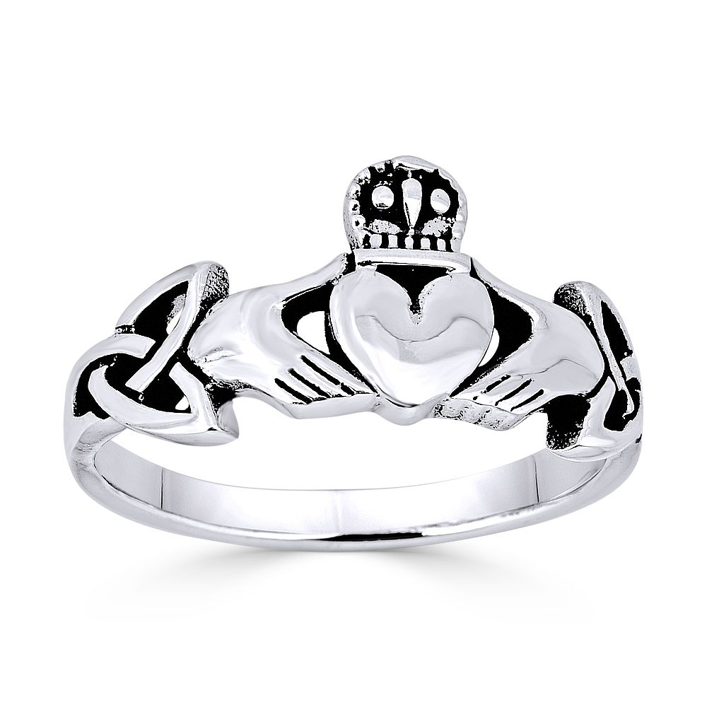 Celtic Knot Ring New .925 Sterling Silver Irish Marquise Band