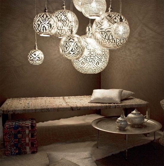 Hier nog een mooi plaatje van wat oosterse lampen met een normale ...