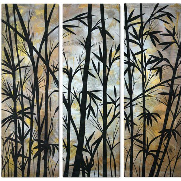 Megan duncanson 39 bamboo shoots 39 metal wall decor for Bamboo wall art