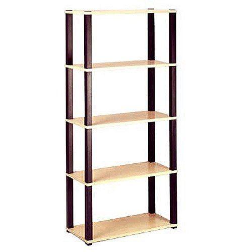 Open 5 Shelf Bookcase Multiple Finishes