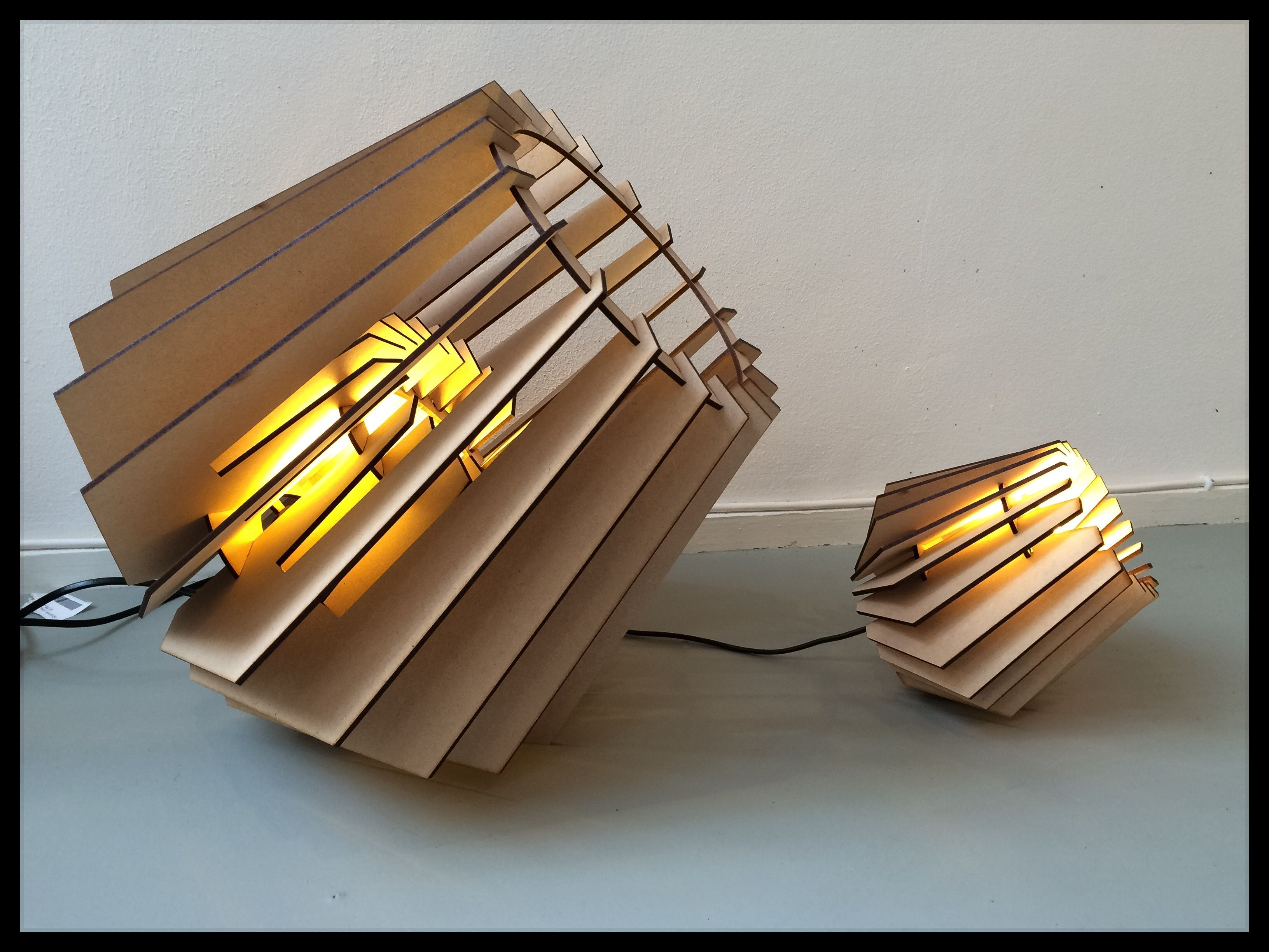 Too cool for skool MDF laser cut lamps at eksterandjay