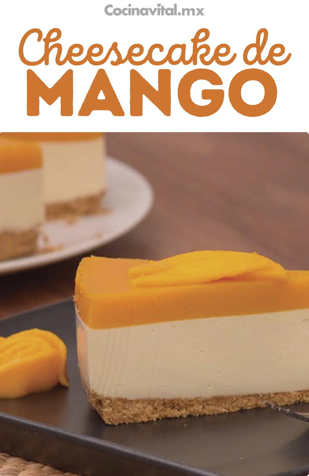 Cheesecake de mango sin horno