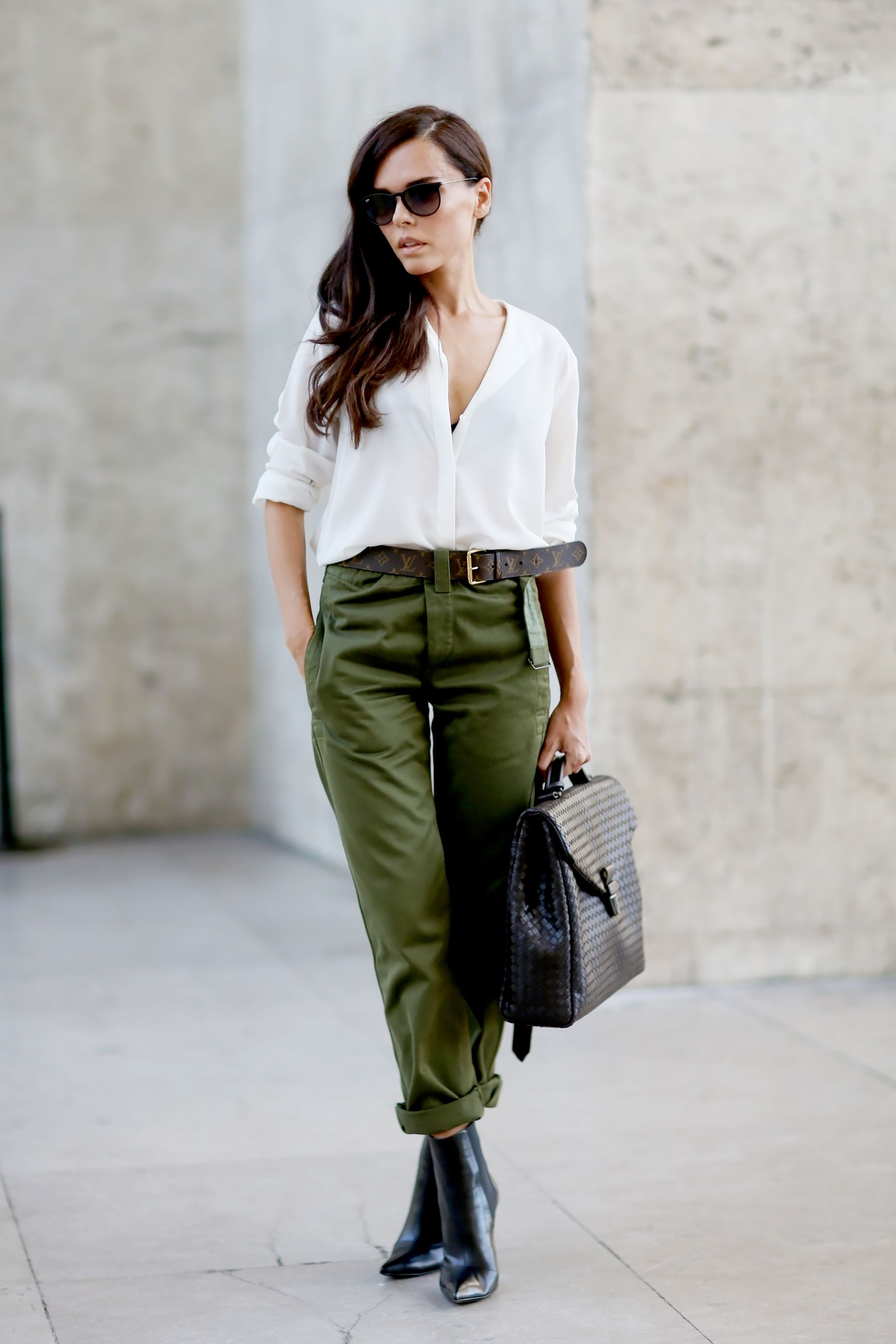 How to military wear green pants