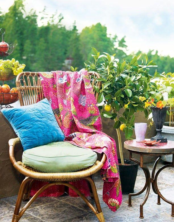 24 Colorful Boho Chic Balcony Décor Ideas DigsDigs Curtain