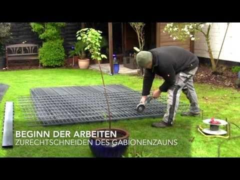 Aufbau eines neuen Gartenzauns / Gabionenzaun Welcher mit einer