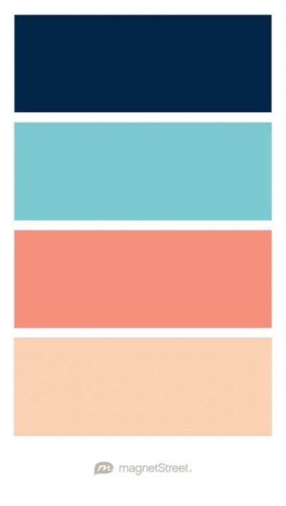 - Navy, Turquoise, Coral, and Peach Wedding Color Palette – custom color palette created at … images