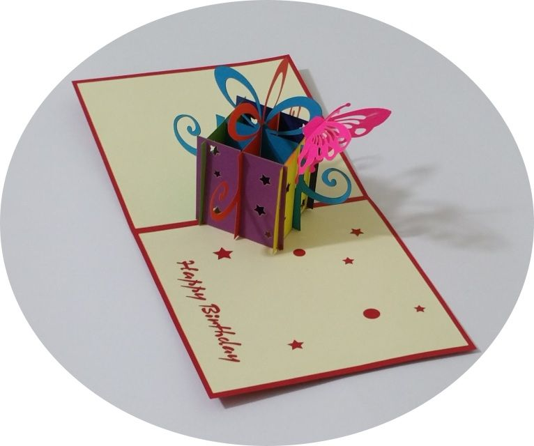 Gift Box 2 - 3D Pop Up Cards - Greeting Cards - Ovid Gifts
