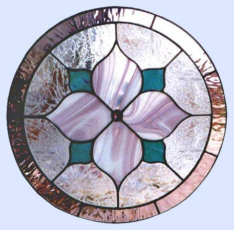 Circles Leaded Stained Glass Custom Windows Custom Glass Design