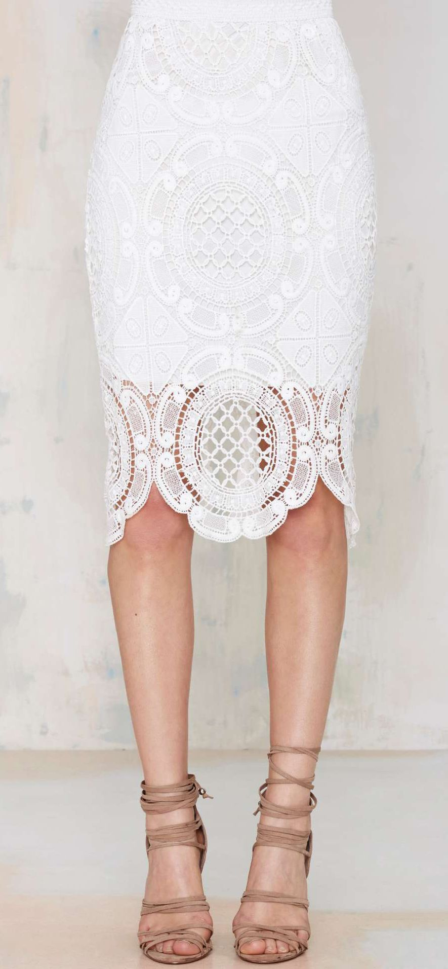 Lace pencil skirt | Style | Pinterest | Pencil skirts, Clothes and ...
