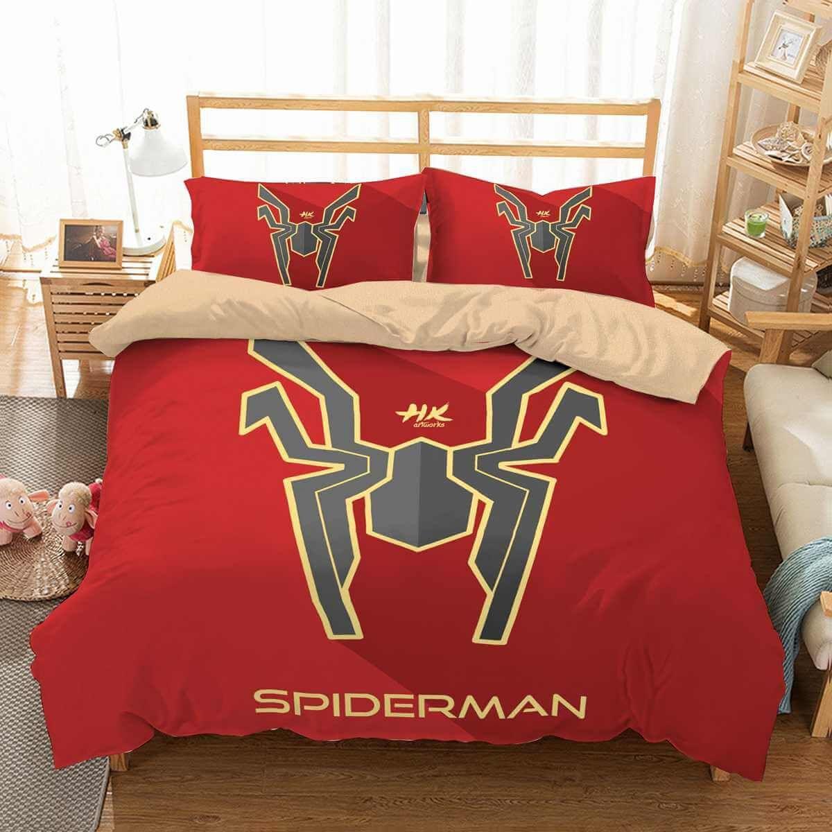 3D Customize Spider Man Bedding Set Duvet Cover Set Bedroom ...