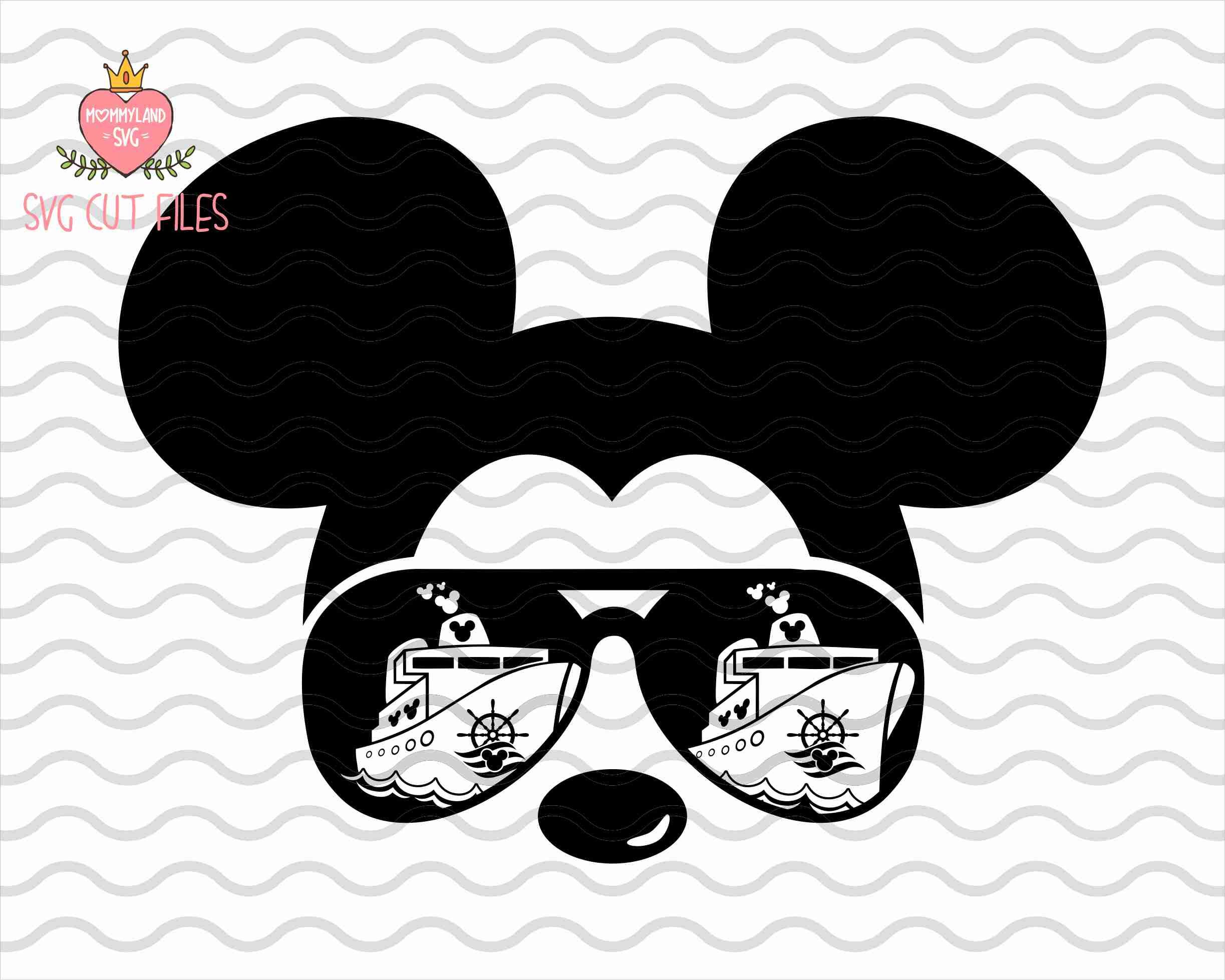 Mickey First Disney Cruise / Mickey Mouse Sunglasses SVG