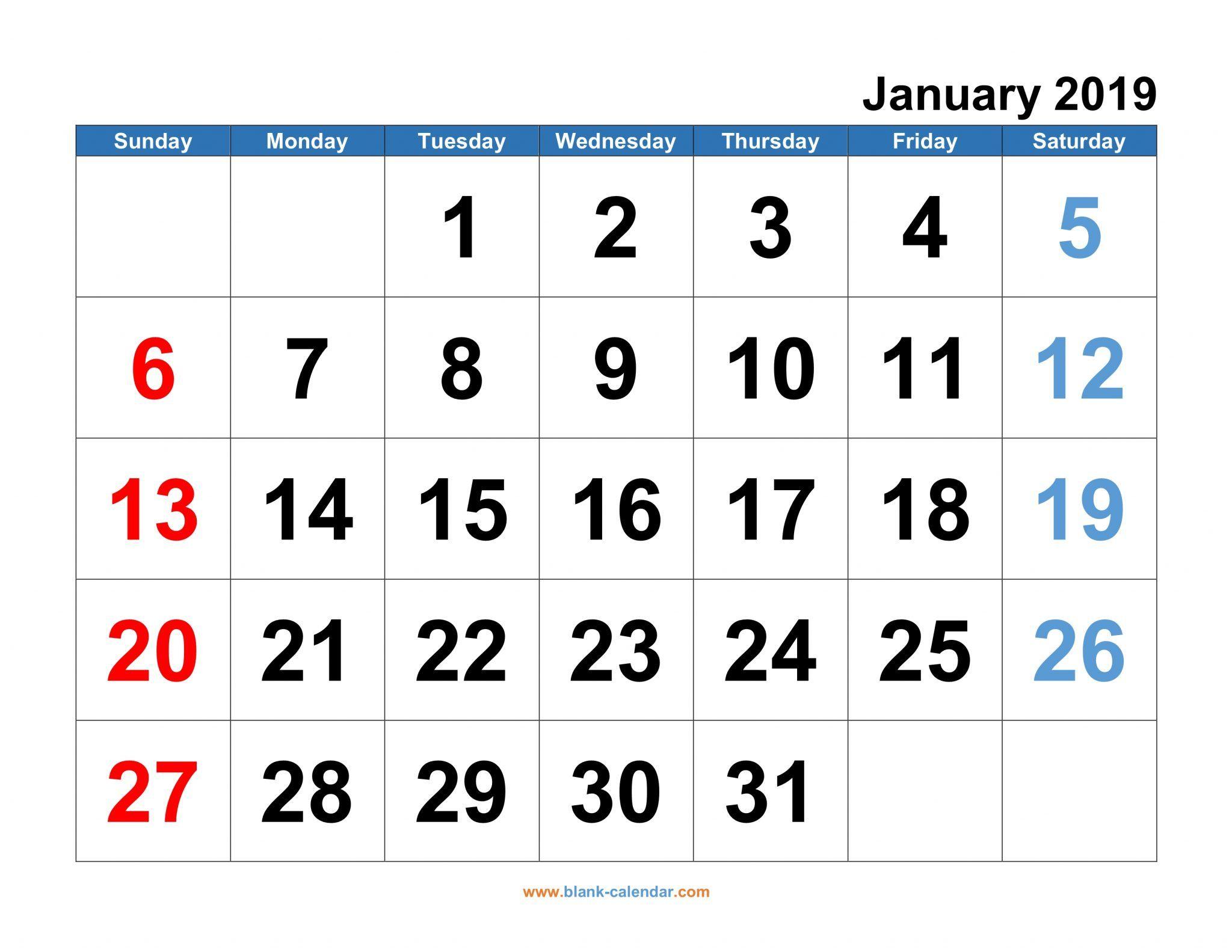January Calendar 2019 Philippines Blank Monthly Calendar Template Printable Calendar Template Monthly Calendar Template