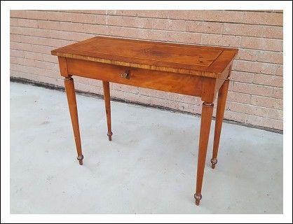Tavolo Intarsiato ~ Tavolino scrittoio console intarsiato e filettato epoca fine