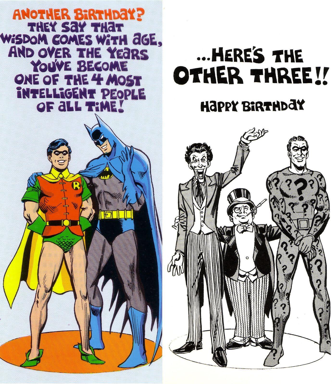 Birthday with batman robin and tarjetas para su fiel enemigo birthday with batman robin and bookmarktalkfo Gallery