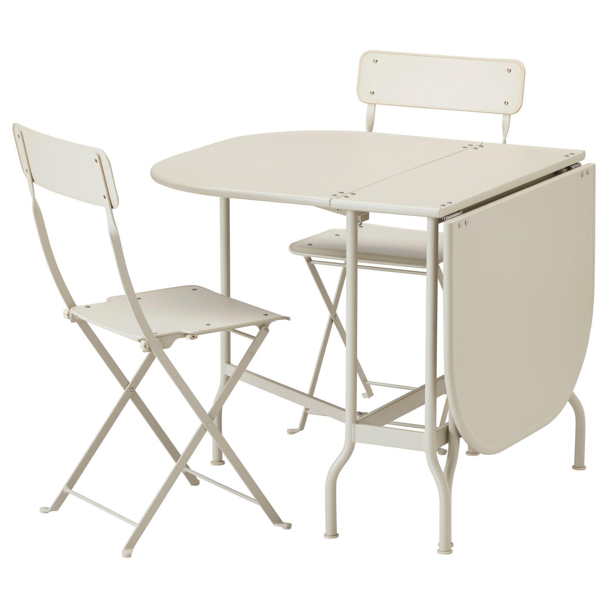 SALTHOLMEN, Tisch+2 Klappstühle/außen, beige Jetzt bestellen unter ...
