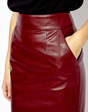 River Island Leather Look High Waisted Skirt | Кожа | Pinterest ...