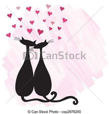 Cats in love - csp2976200
