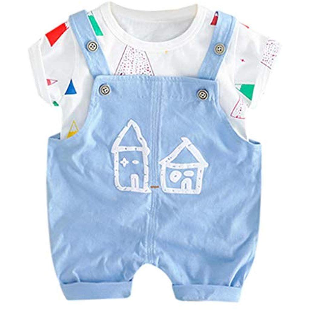 40996bf0b01c3 Holywin Kinder Kleinkind Baby Kinder Jungen Mädchen T-Shirt Tops Overall  Hosen Casual Spielen Outfits