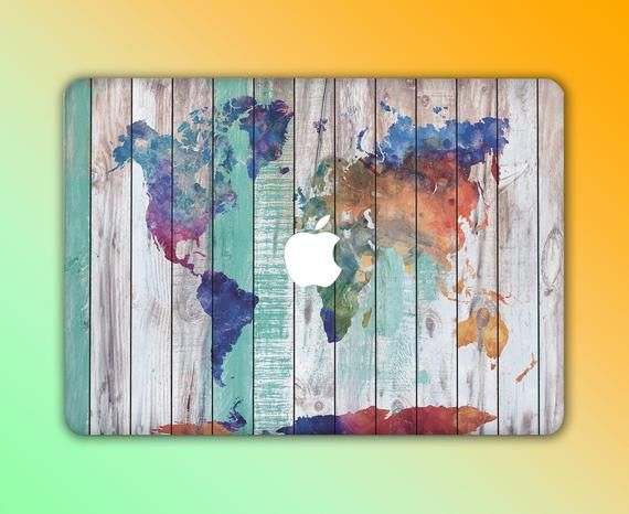 Macbook Pro 13 Case World Map Wood Macbook Pro 15 Inch A2159 | Etsy