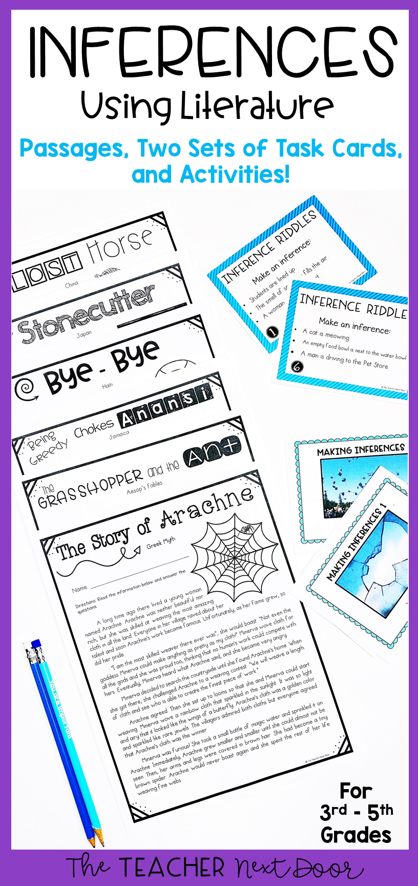 Making Inferences Using Literature For Print And Digital Distance Learning Making Inferences Inference Inference Task Cards [ 1728 x 816 Pixel ]