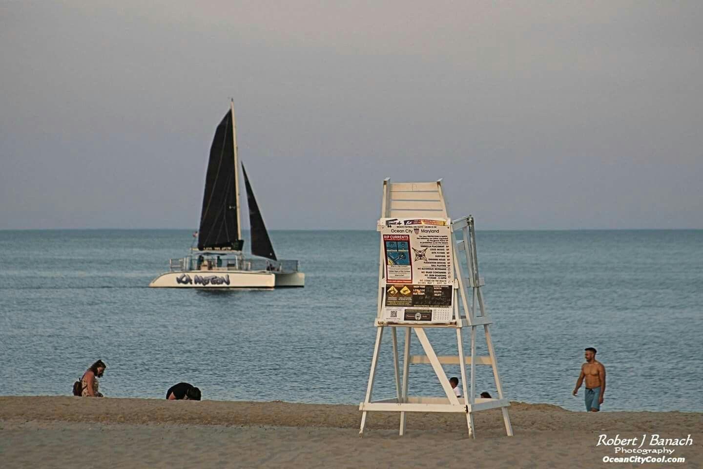 A sunset ride on the Ka Motion catamaran in Ocean City. #ocmd