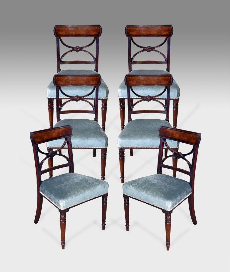 Set of 6 antique Regency dining chairs, via Thakeham Furniture - Set Of 6 Antique Dining Chairs Antique Furniture-English