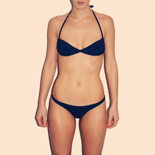 COULBOURNE+ Navy Aruba String Bikini