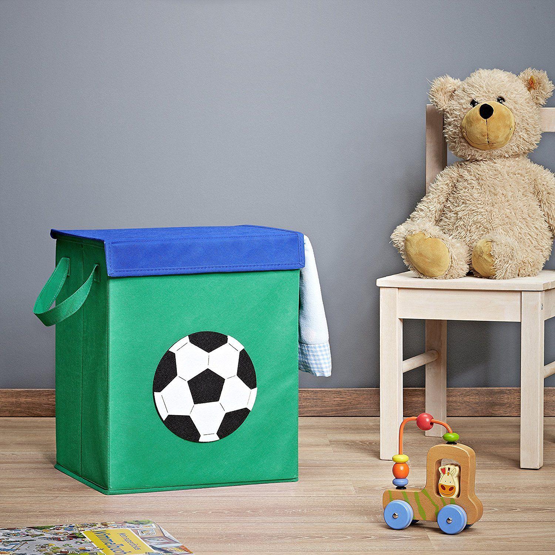 ⚽ Fussballzimmer: Spielzeugkiste Fußball - Aufbewahrung Box für ...