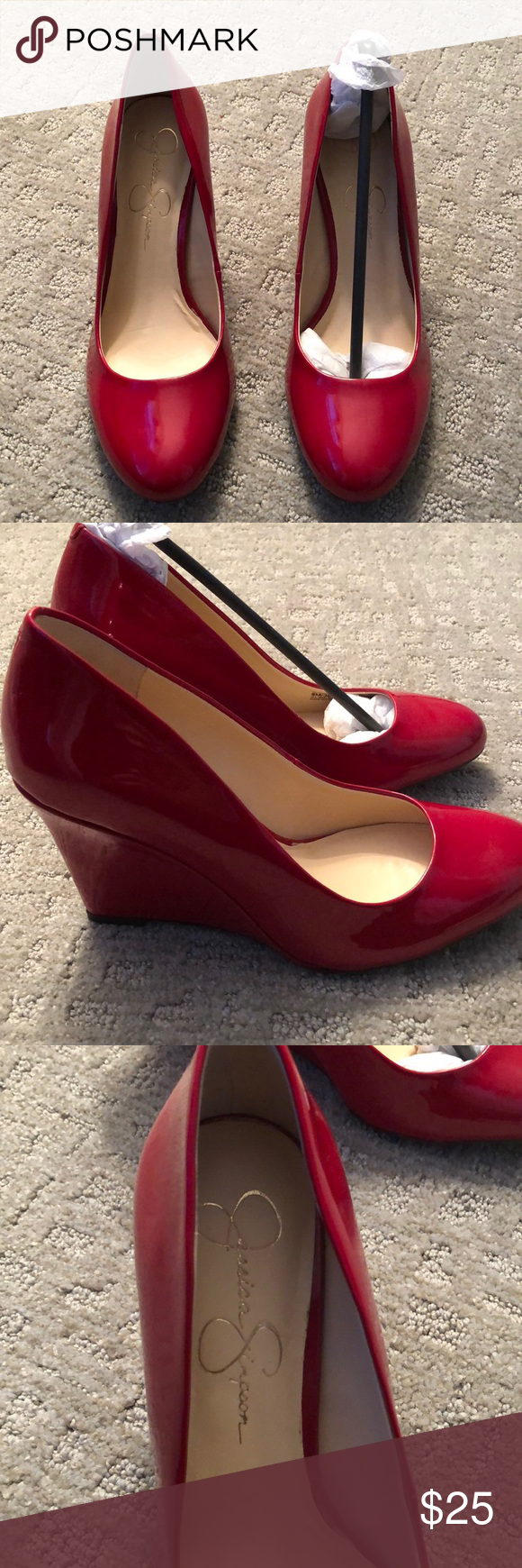 e78624cb0fdc New Jessica Simpson Red Wedges