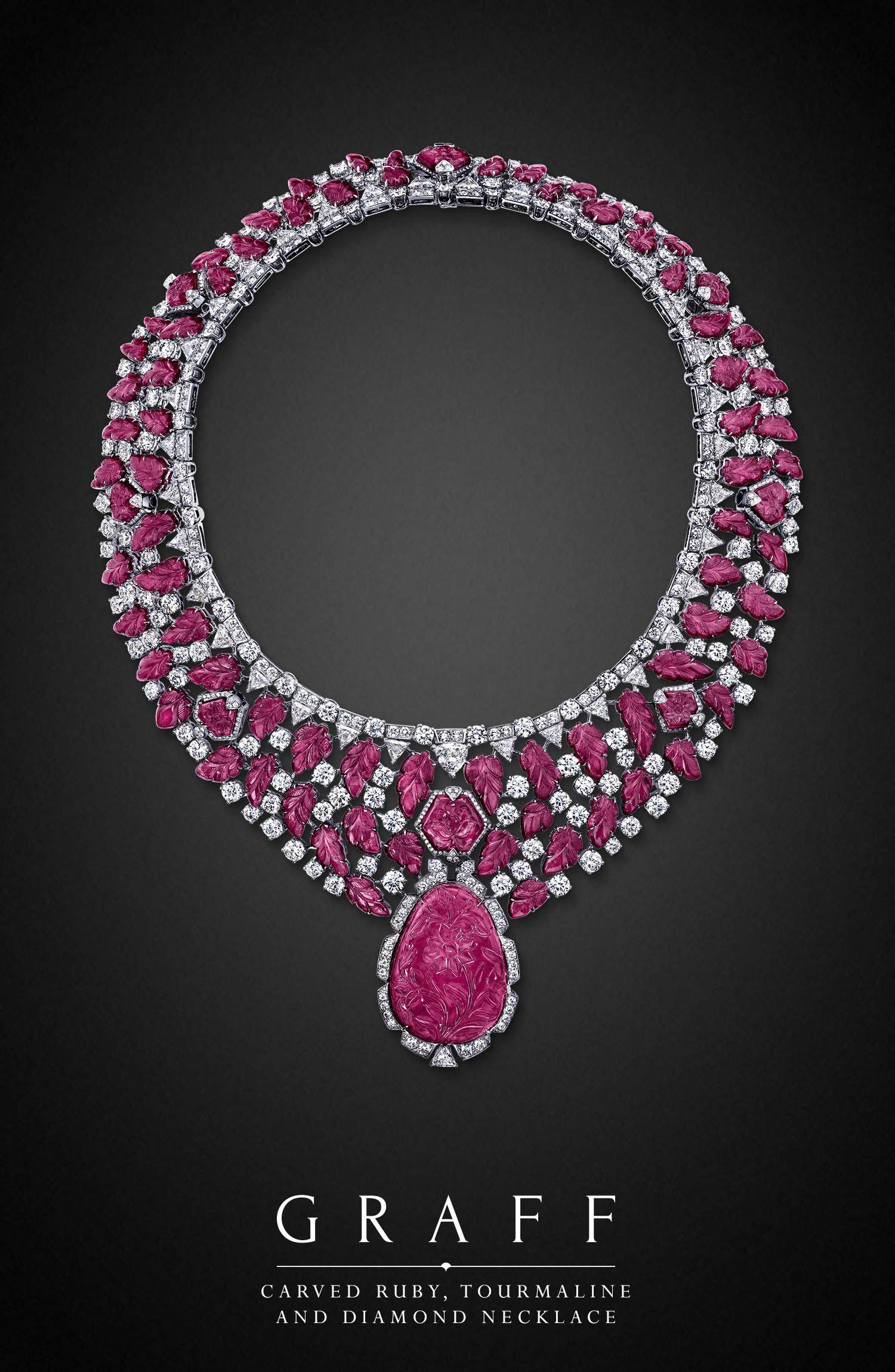 Graff Diamonds: Carved Ruby, Tourmaline and Diamond ...