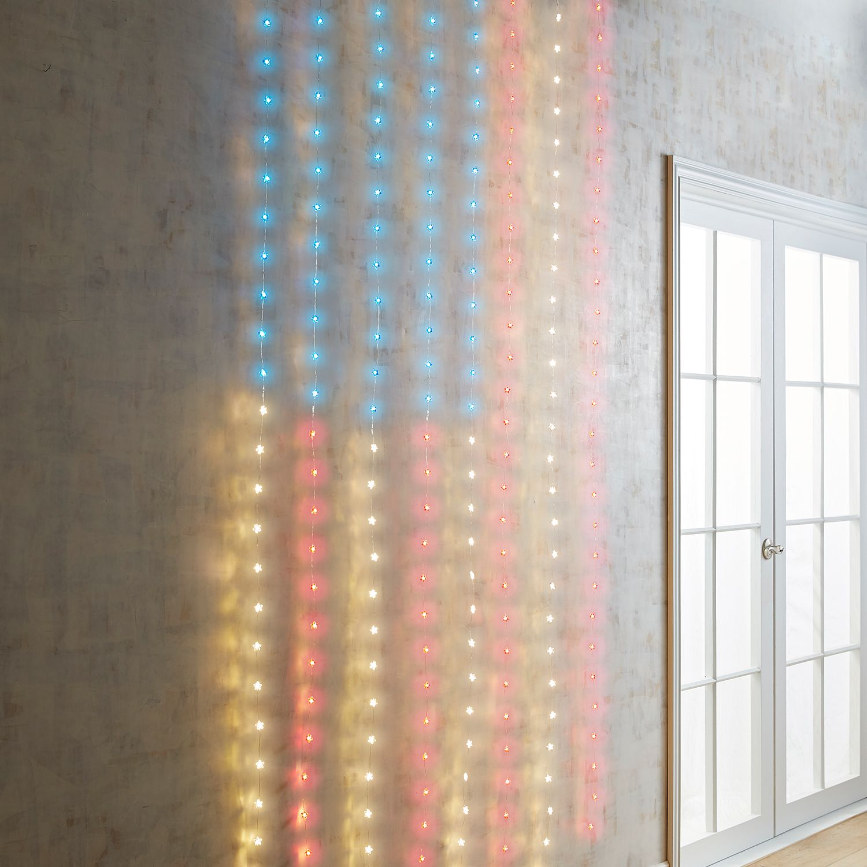 Red White & Blue American Flag Multi-Strand LED Curtain