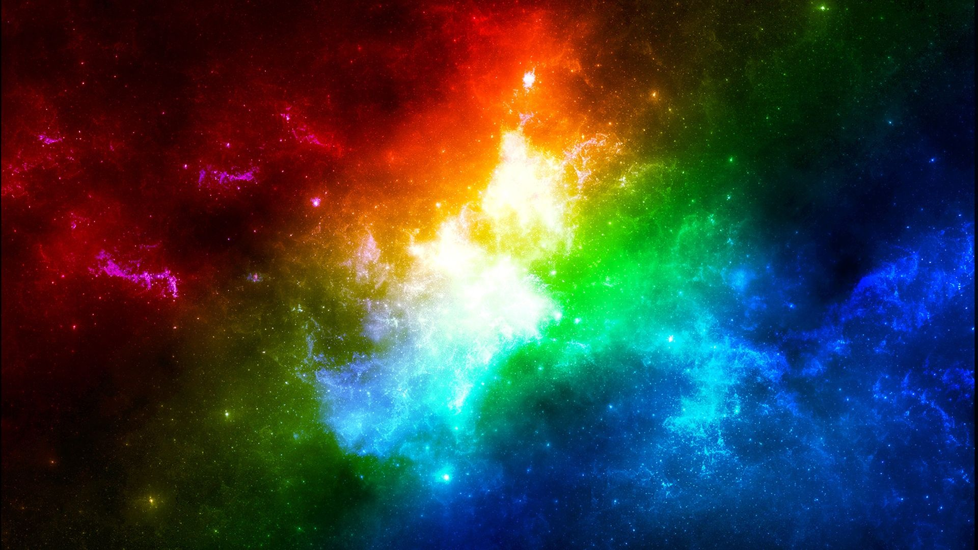 Space In Rainbow Colors With Images Rainbow Wallpaper