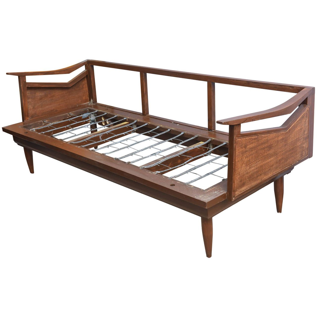 Day Beds For Sale Restored Danish Teak And Cane Day Bed Attributed To Wegner 1960s
