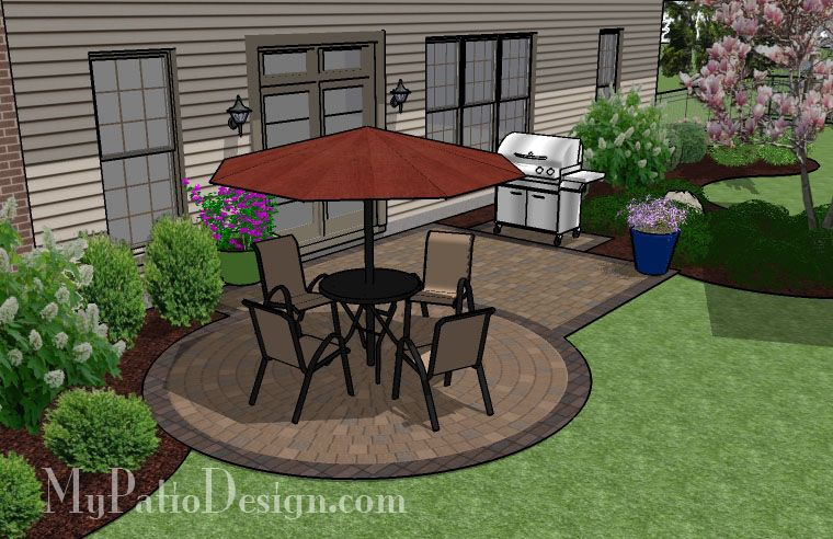 295 Sq Ft Small Patio Design On A Budget Small Patio Design