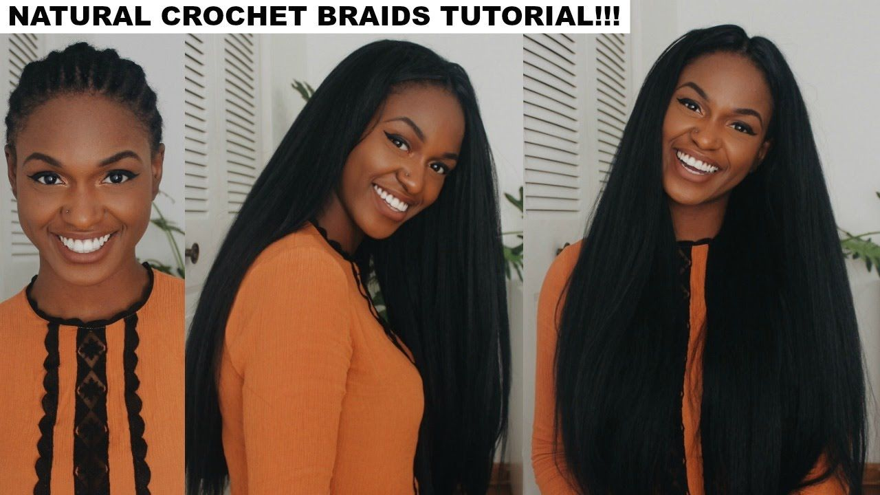 How To Do Straight Crochet Braids With A Knotless Part Crochet