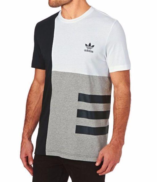 b0b8b2caed4bfb Men s Adidas Originals T-shirts - Adidas Originals Graphic 3 Stripe T1 T- Shirt - White black  adidas  tshirt  mens