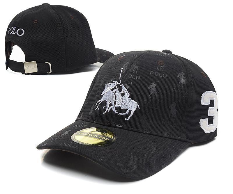 14472022709 Men s   Women s Unisex Polo Ralph Lauren Dual Match 2 Pony Logo  3 Strap  Back Adjustable Rubgy Hat - Black   White