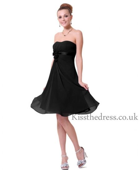 Black Chiffon Bridesmaid Dresses