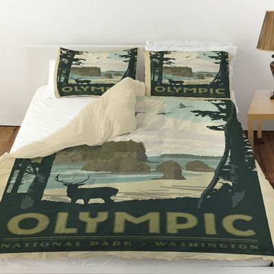 Manual Woodworkers & Weavers Olympic Duvet Cover Size: King