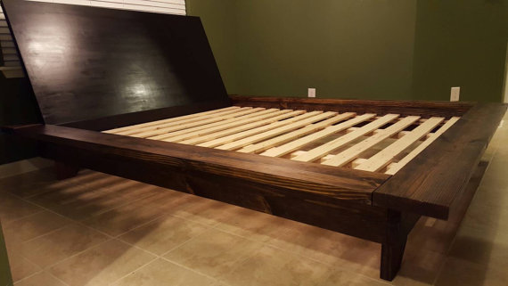 Floating Platform Bed, Wide Ledge Bed, Loft Bed, Low Profile Bed ...