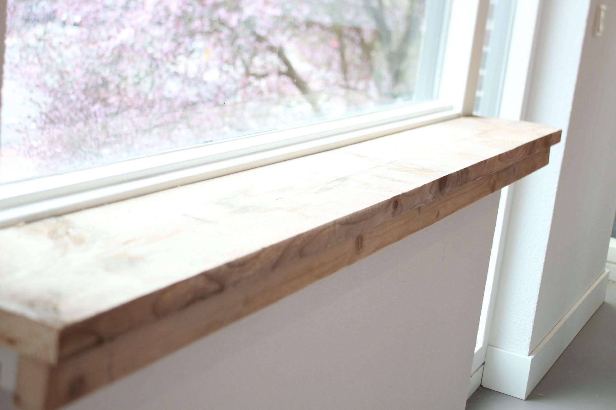 Steigerhout voordeel vensterbanken op maat a huisje for Steigerhout vensterbank