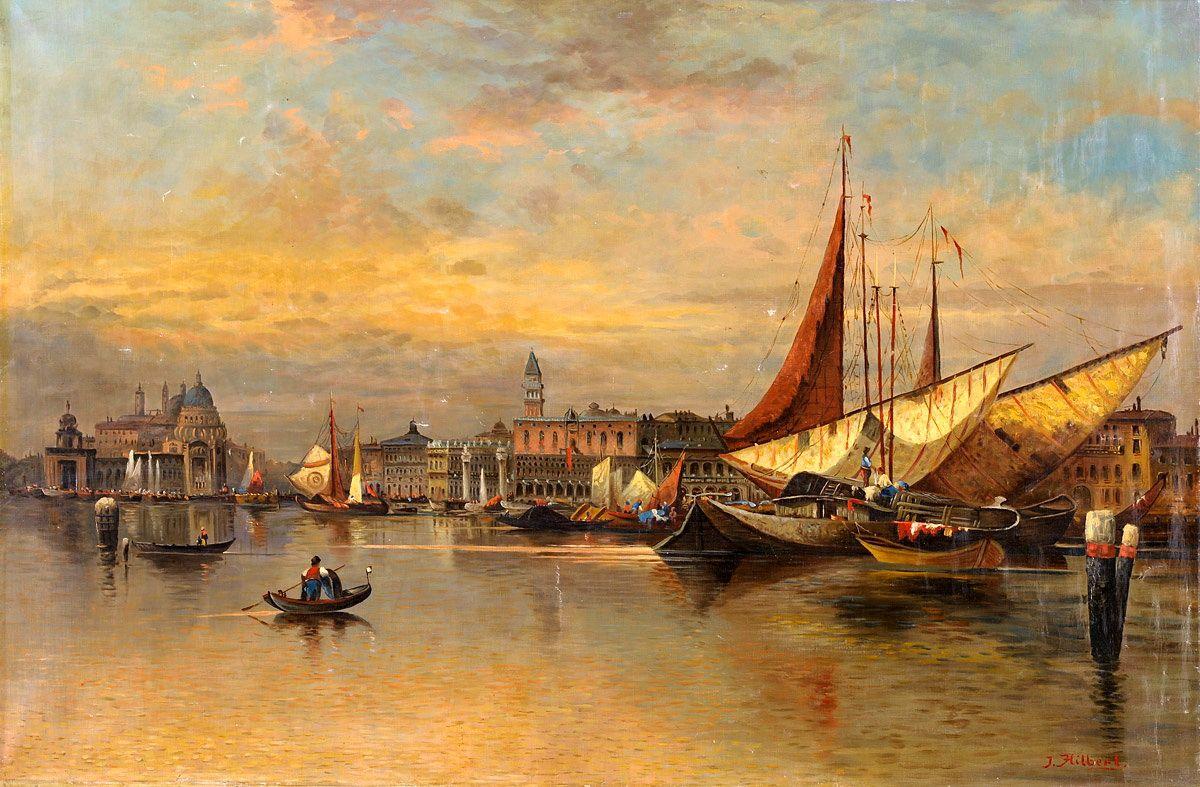 Karl Kaufmann (1843-1902) Ansicht von Venedig